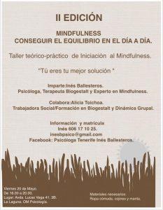 IITaller de Iniciación al Mindfulness